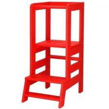 Učiaca veža Montessori Kitchen Helper - červená