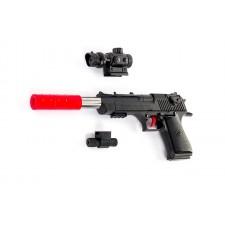 Pištoľ JAMES s laserovým zameriavaním
