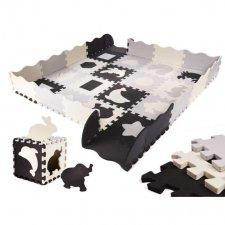 Penové puzzle pre deti - čierna,sivá, ecru - 36ks