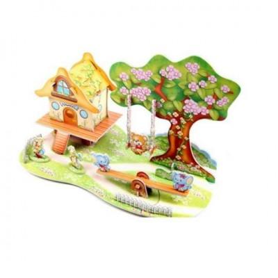 3D puzzle – Domček s hojdačkou