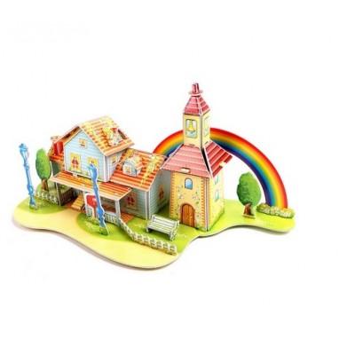 3D puzzle – Dúhový domček