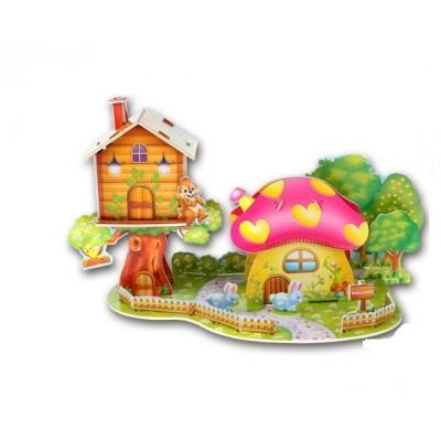 3D puzzle – Hubový domček