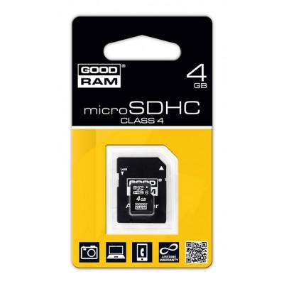 4 GB microSDHC karta GOODRAM Class 4 Retail