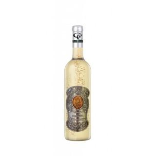 50 Rokov - Darčekové Biele so zlatom 0,7 Kovová etiketa
