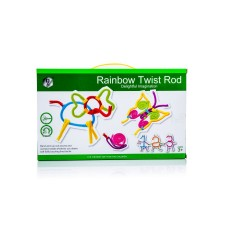 Farebné ohýbacie drôtiky Rainbow Twist Rod 84 dielikov