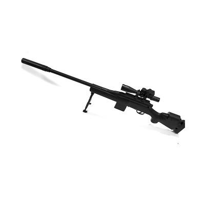 Puška ALEX s laserovým zameriavaním, nožičkami a okuliarmi na nočné videnie