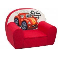 Detské kreslo - Červené Auto