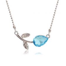 Swarovski náhrdelník kvet - tyrkysová