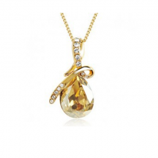 Swarovski náhrdelník drahokam - zlatá