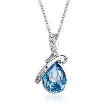 Swarovski náhrdelník drahokam - tyrkysová