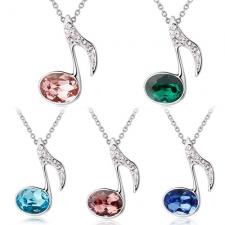 Swarovski náhrdelník husľový kľúč - rôzne farby