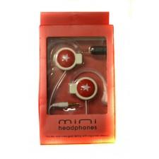 Slúchadlá Mini headphones Red