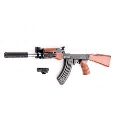 Puška LEO s laserovým zameriavaním a zásobníkom