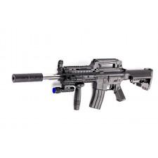 Puška JACOB s laserovým zameriavaním, baterkou a zásobníkom