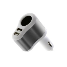 Adaptér zapaľovač a 2x USB do auta