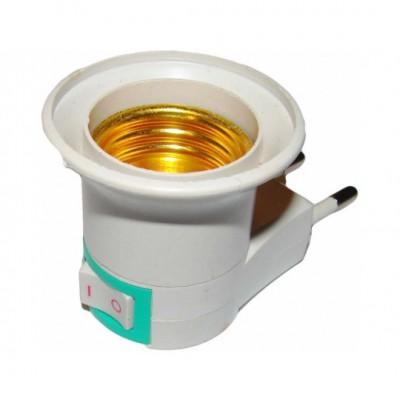 Adaptér zásuvka – žiarovka s vypínačom