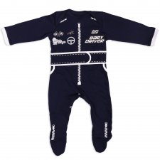 Baby Driver – detské body, modré, veľkosť: 86