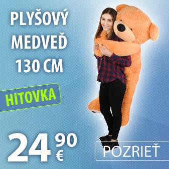 Plyšový medveď 130 cm - svetlo hnedý