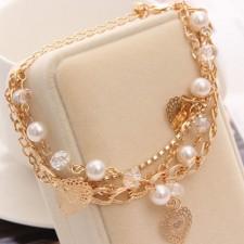 Bižu viacvrstvový náhrdelník