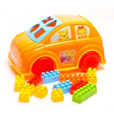 Skladacie kocky GoldKids 48 kusov v autíčku