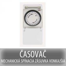 ČASOVAČ - MECHANICKÁ SPÍNACIA ZÁSUVKA VONKAJŠIA IP44
