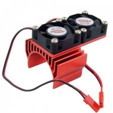 Chladič s dvoma ventilátormi pre RC autá s motorom 540, 550