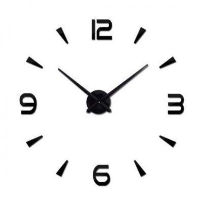Čierne nástenné hodiny veľké 80-120cm - 4 číslice