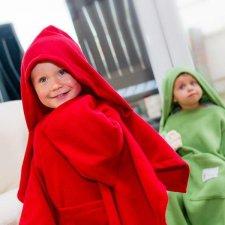 Deka s rukávmi Baby Wrapi – Červená