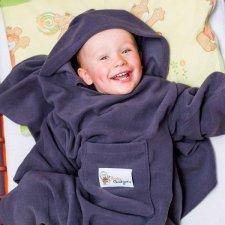 Deka s rukávmi Baby Wrapi – Fialová
