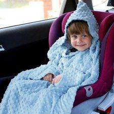 Deka s rukávmi Baby Wrapi – modrá