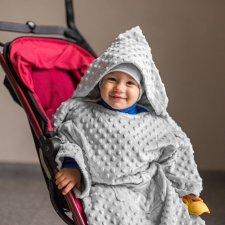 Deka s rukávmi Baby Wrapi – sivá