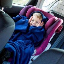 Deka s rukávmi Baby Wrapi – Tmavomodrá