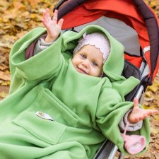 Deka s rukávmi Baby Wrapi – Zelená