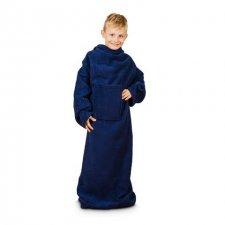 Deka s rukávmi pre deti – Navy