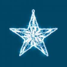 Dekorácia do okna, hviezda, 30cm, 230V
