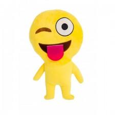 "Dekoračný vankúš Emoji ""Winking-Face-With-Tongue"""