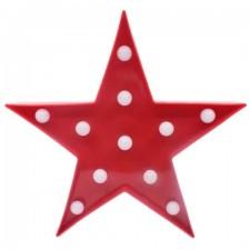 Dekoratívna LED lampa – červená hviezda