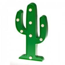 Dekoratívna LED lampa – zelený kaktus