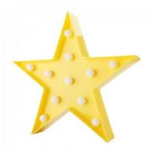 Dekoratívna LED lampa – žltá hviezda