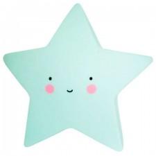 Detská nočná LED lampa - Hviezdička Modrá
