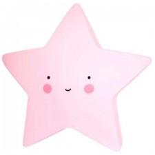 Detská nočná LED lampa - Hviezdička Ružová