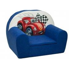 Detské kreslo - Modré Auto