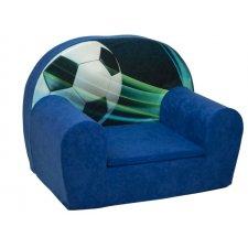 Detské kreslo - Modré - Futbal