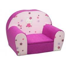 Detské kreslo - Ružové Hello Kitty