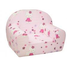 Detské kreslo - Ružové Kitty