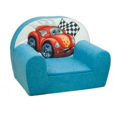 Detské kreslo - Svetlo modré Auto