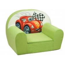 Detské kreslo - Zelené Auto
