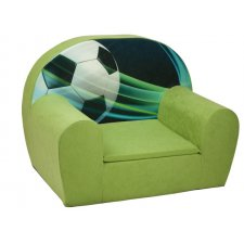 Detské kreslo - Zelené - Futbal