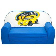 Detská rozkladacia pohovka Modrá - Auto