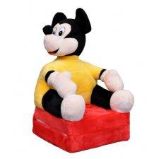 Detské rozkladacie kresielko 2v1 - Mickey Smile